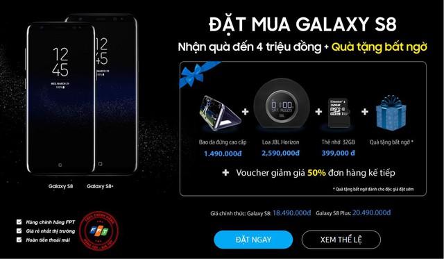 Toàn bộ ưu đãi khủng khi pre-order Samsung Galaxy S8|S8+ tại Nemo.vn.