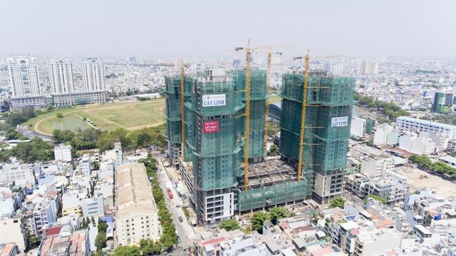 Tiến độ xây dựng dự án đang nhanh hơn thời gian dự kiến.