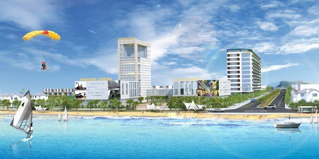 Phối cảnh dự án nhìn từ biển vào đường 39m Nguyễn An Ninh.