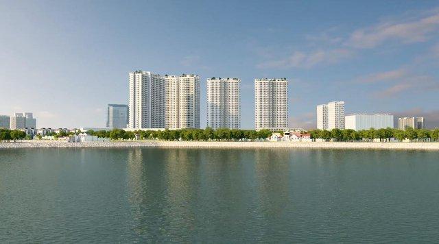 Gelexia Riverside được thừa hưởng những ưu ái khi nằm cạnh hồ Yên Sở.