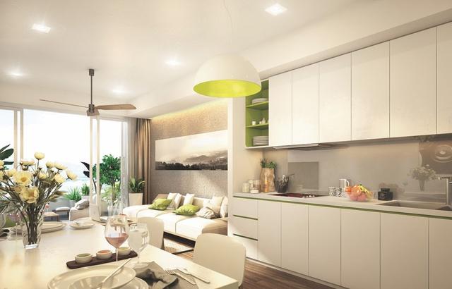 Các căn condotel đều có tầm nhìn thông thoáng, ban công rộng và được đang bị 100% nội thất sang trọng.
