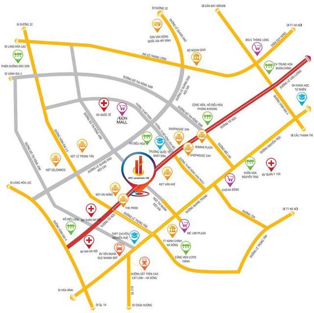 HPC Landmark 105 nằm trong trung tâm quy hoạch của khu vực phía Tây Nam Hà Nội.