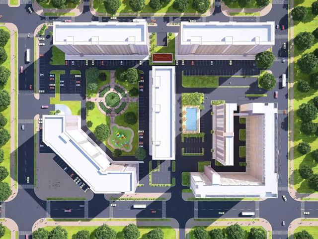 Tổng thể quy hoạch hơn 5 tiện ích của dự án Green Town Bình Tân.