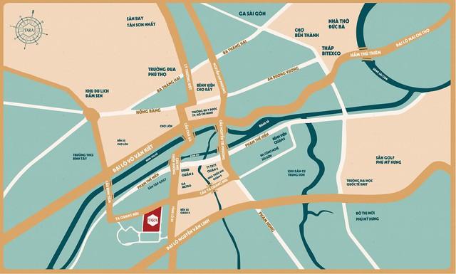 Tara Residence có vị trí ngay trung tâm quận 8 với giao thông thuận tiện.