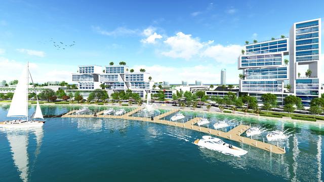 Khu đô thị Thương Mại kế bên biển Sea View, nơi TM phối hợp du lịch