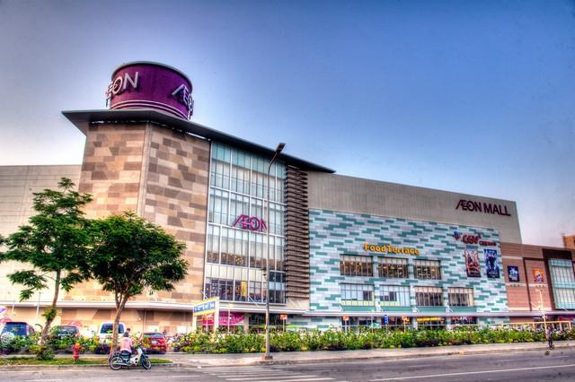 Trung tâm mua sắm Aeon Mall với tổng diện tích 16,7ha.