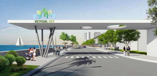 Cổng vào đô thị thương mại - nghỉ dưỡng Vietpearl City.
