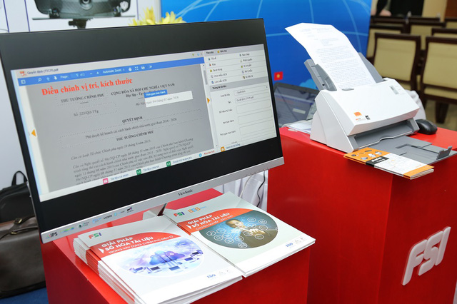 Phần mềm số hóa tài liệu của FSI tại Triển lãm CNTT – Điện tử - Viễn Thông TP. HCM 2017.