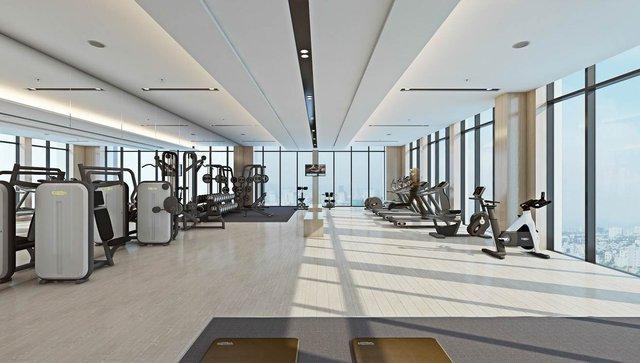 Luxury Apartment sở hữu hệ thống tiện ích cao cấp ngay trong nội khu tòa tháp: bể bơi trên cao, nhà hàng, không gian gym…