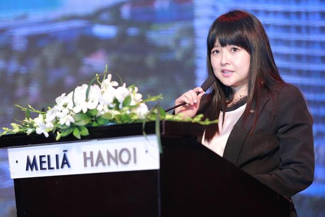 Bà Lew Yen Ping - Tổng quản lý của The Ascott Limited tại Việt Nam tới tham dự và phát biểu tại sự kiện.