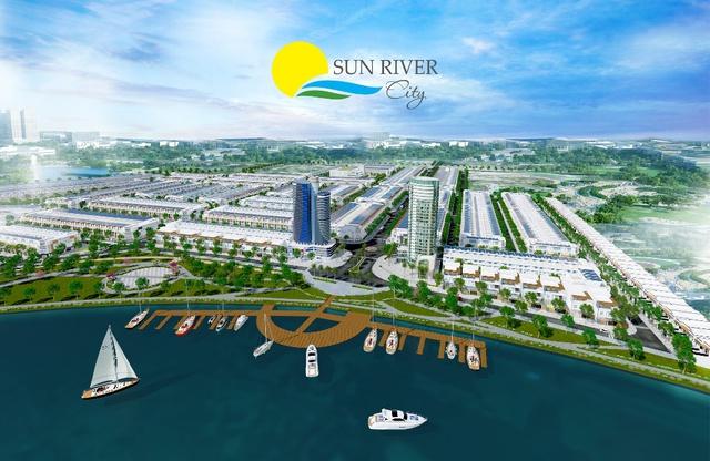 Phối cảnh dự án Ven sông Cổ Cò – Sun River City.