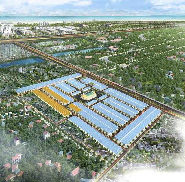 Ảnh phối cảnh tổng thể dự án New Điện Dương City.