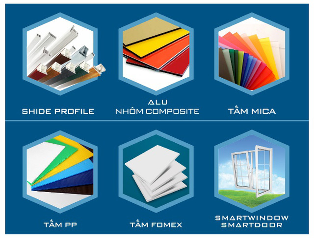 Các dòng sản phẩm của Tập đoàn Nhựa Đông Á (DAG).