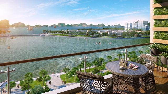 100% căn hộ Hometel Green Bay Premium view trực diện kỳ quan Vịnh Hạ Long.