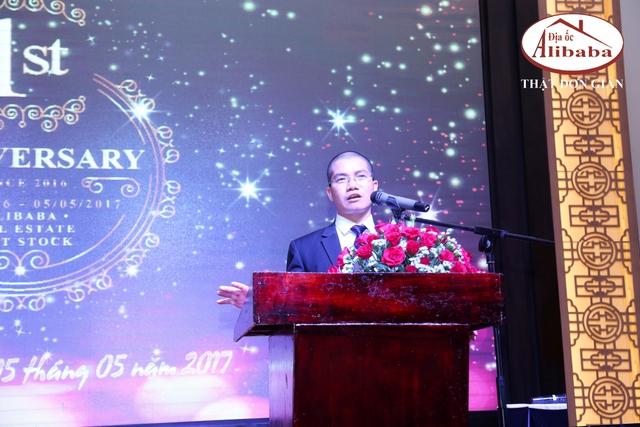 Nguyễn Thái Luyện – Tổng Giám Đốc công ty phát biểu tại đại hội cổ đông lần thứ I/2017.
