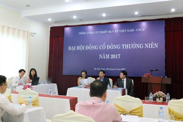 Đại hội đồng cổ đông thường niên năm 2017 của Tổng công ty Thiết bị Y tế Việt Nam – CTCP (VINAMED).