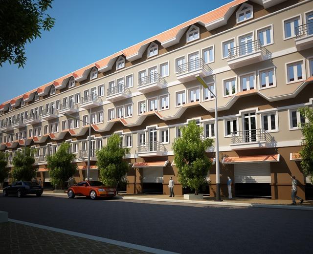 Nhà liền kề Đô Nghĩa có vị trí thuận lợi trong Khu đô thị Dương Nội xanh.
