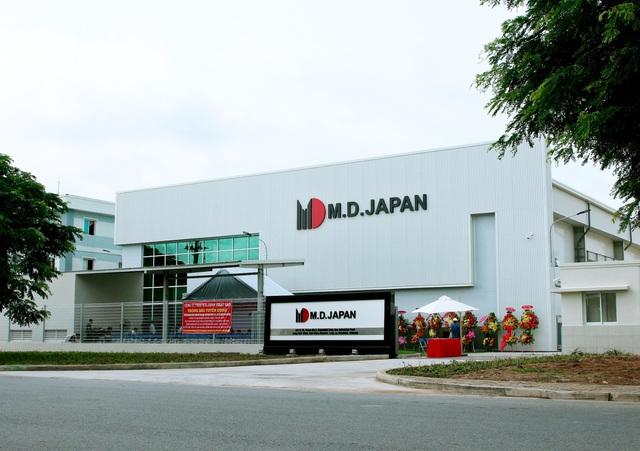 Trụ sở Công ty TNHH MTV M.D.JAPAN tại lô Q-10, đường số 6, KCN Long Hậu mở rộng, xã Long Hậu, huyện Cần Giuộc, tỉnh Long An.