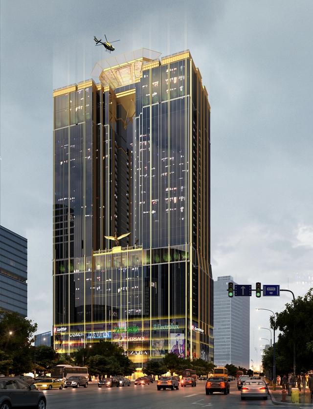 Tòa nhà Sunshine Center với kiến trúc ấn tượng thể hiện sự mạnh mẽ và tinh xảo trong từng đường nét.
