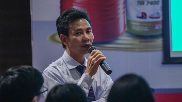 Ông Nguyễn Trọng Hậu, Chủ tịch kiêm Tổng giám đốc HFC phát biểu tại buổi ký kết ngày 7 tháng 6, tại Hà Nội.