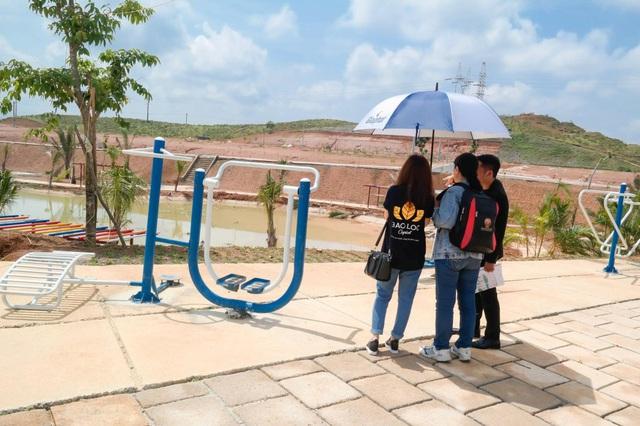 Hồ Sao Băng rộng 2,2 ha ngay trung tâm dự án Bảo Lộc Capital.