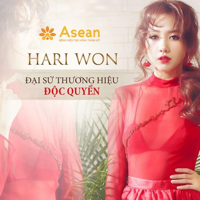Hari Won – Đại sứ thương hiệu độc quyền của Bệnh viện Tạo hình Thẩm mỹ Asean.