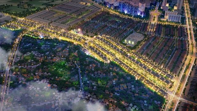 An Phú Shop-villa là mô hình biệt thự thương mại được quy hoạch trong khu đô thị Dương Nội gần 200ha tại khu vực trung tâm mới phía Tây của thành phố.