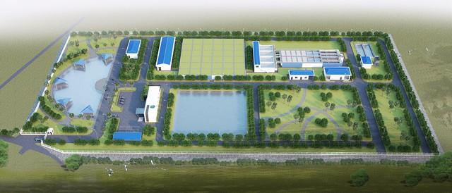 Nhà máy nước sạch DNP- Bắc Giang, một trong những dự án đang được DNP Water triển khai xây dựng, dự kiến sẽ đưa vào hoạt động từ năm 2018.
