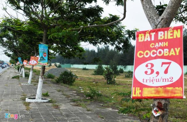 Hàng loạt dự án đang rao bán theo sức nóng của Cocobay – Nguồn ảnh: Zing.vn.