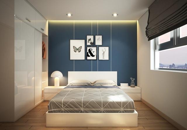 Phòng ngủ thoáng mát và luôn ngập tràn ánh sáng tự nhiên.