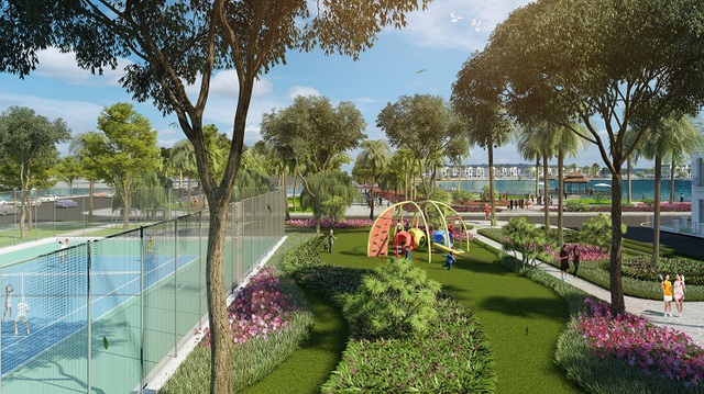 Tiểu khu Tulip kế cận nhiều nhất các sân chơi thể thao ngoài trời và công viên cây xanh.