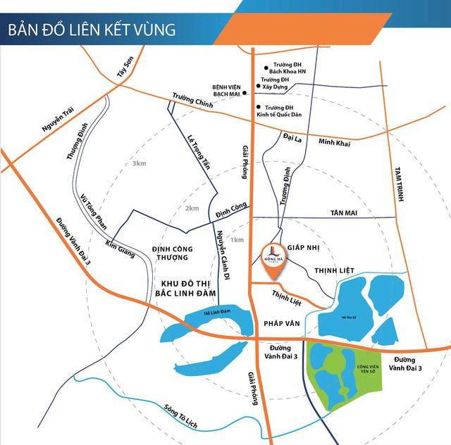 """Vị trí chiến lược của dự án Hồng Hà Tower """"nhanh vào nội đô, tiện ra ngoại ô""""."""