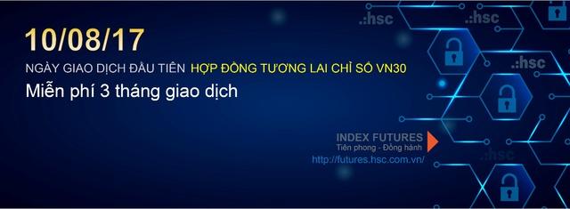 HSC sẽ miễn phí 3 tháng phí giao dịch Hợp đồng tương lai chỉ số VN30 từ ngày 10/8.