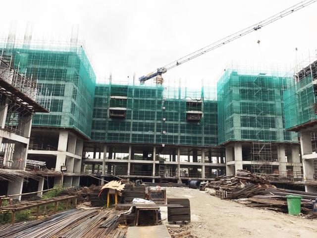 Hình chụp thực tế tiến độ dự án tháng 7/2017.