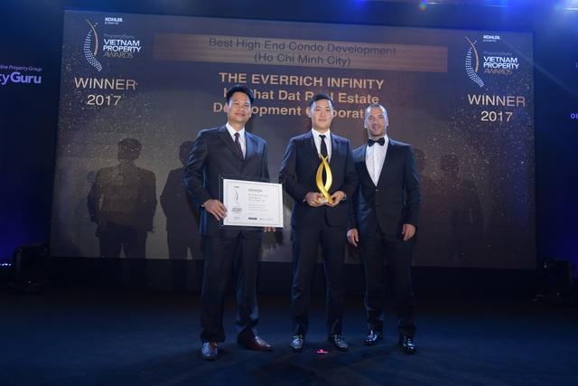 The EverRich Infinity được vinh danh ở giải thươnt Dự án căn hộ cao cấp tốt nhất.