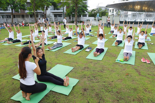 """""""Trải nghiệm Yoga xanh cùng PhoDong Village"""" là một trong những chương trình bổ ích nằm trong chuỗi hoạt động chăm sóc đời sống cộng đồng của PhoDong Village (hoàn toàn miễn phí)."""