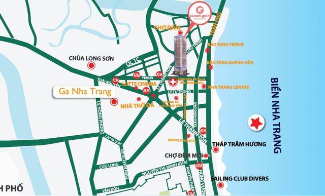Ocean Gate sở hữu vị trí trung tâm sầm uất của thành phố Nha Trang.