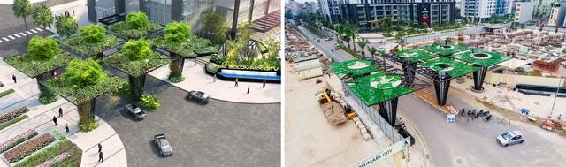 Cổng dự án Goldmark City đang trong quá trình thi công hoàn thiện.