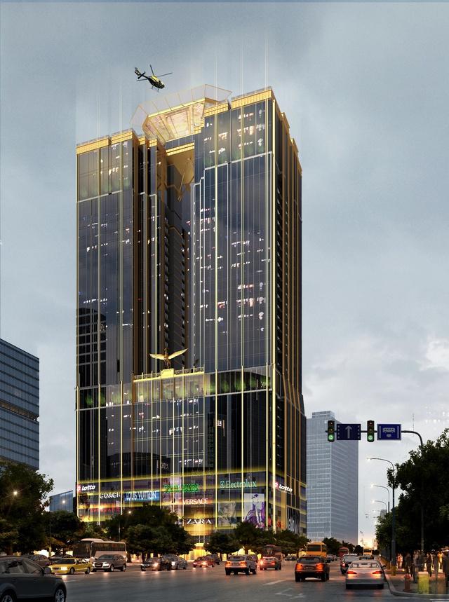Tòa nhà Sunshine Center (Số 16, Phạm Hùng, Q.Nam Từ Liêm, Hà Nội) lấy cảm hứng từ Trump Tower - Một sản phẩm BĐS nổi tiếng của Tổng thống Mỹ Donald Trump.