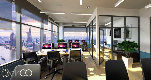 Hình ảnh văn phòng làm việc riêng (Private room) tại CirCO Hoàng Diệu 2 sẽ ra mắt vào Q4 - 2017.