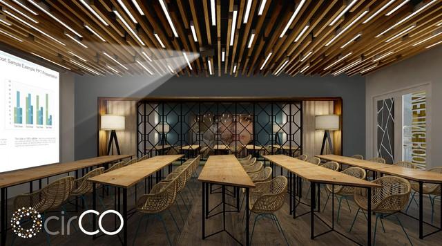 Hình ảnh phòng họp (Meeting room) tại Hoàng Diệu 2 phù hợp với sự kiện quy mô lớn và thiết bị hiện đại, lịch sự.