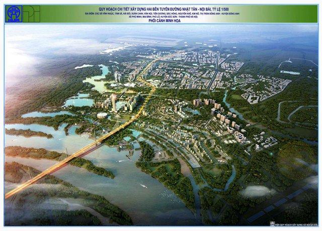 Quy hoạch trục Nhật Tân – Nội Bài.