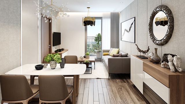 Các căn hộ diện tích đa dạng từ 51.6 – 84.4m2, bố trí 02 logi tối ưu hướng đón ánh nắng và gió mát.