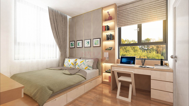 Hệ thống điện cảm ứng và phòng ngủ nội thất thông minh sẽ được chủ đầu tư bàn giao luôn cho khách hàng sở hữu căn hộ Saigon Intela.