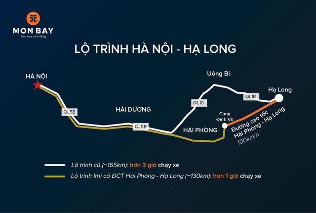 Cao tốc Hải Phòng – Hạ Long hoàn thiện rút ngắn thời gian từ Hà Hội tới tới Hạ Long chỉ mất hơn 1 giờ đồng hồ.