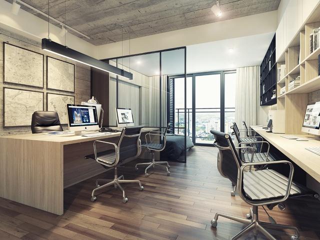 Office-tel tại Lancaster Lincoln được thiết kế linh hoạt đảm bảo chức năng lưu trú và văn phòng hiện đại.