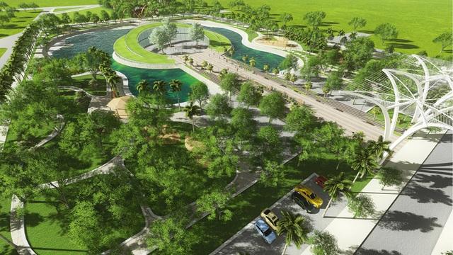 Sở hữu Nhà liền kề Đô Nghĩa, cư dân chỉ mất vài bước chân để tới Công viên Hồ Âm Nhạc.