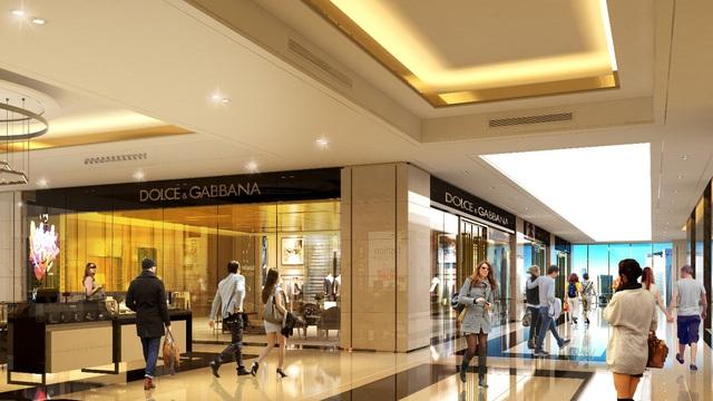 """Không gian trung tâm thương mại đẳng cấp được mệnh danh là """"Tràng tiền thứ hai"""" tại Sunshine Center."""