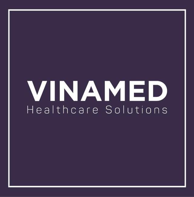 Logo mới của VINAMED sau khi sáp nhập.