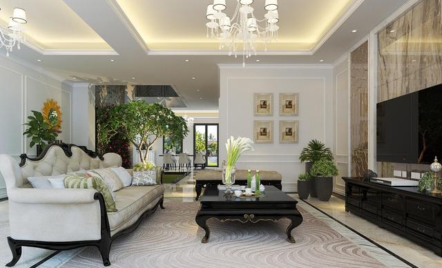 Kiến trúc cổ điển phong cách Pháp của biệt thự Sunshine City thể hiện trong các món nội thất tinh tế…